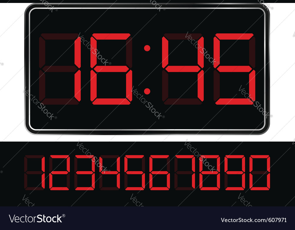 Digital clock vector image