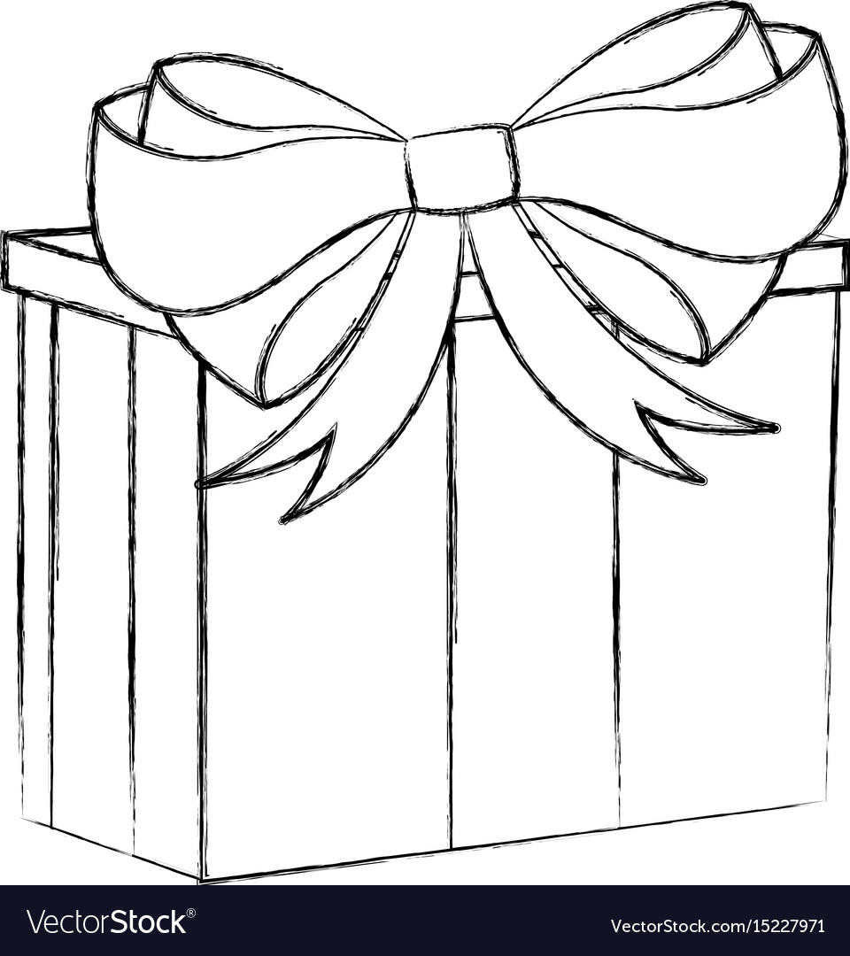 christmas present sketch how to draw presents step 4 christmas