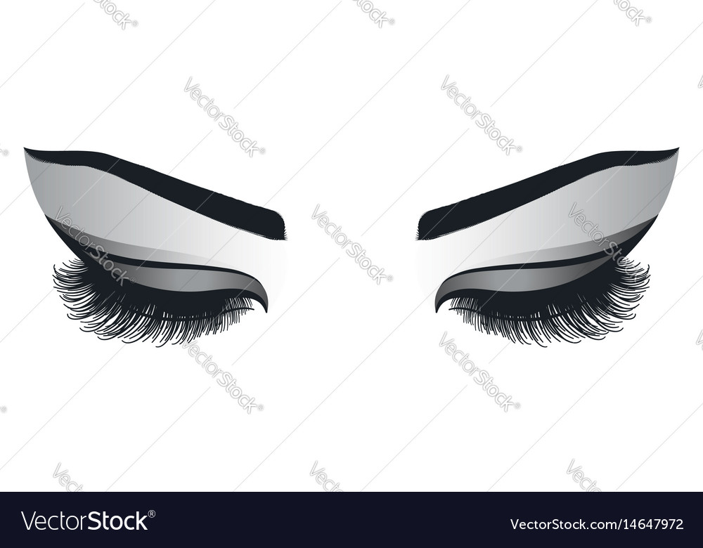 Female eyes with long eyelashes vector image