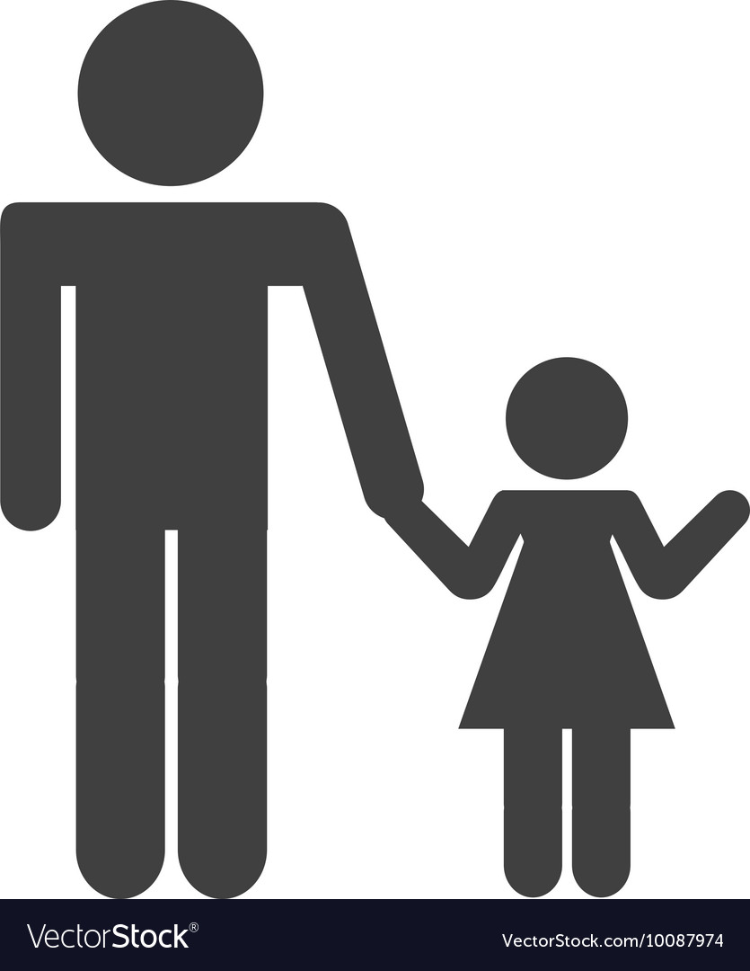 father silhouette isolated icon vector image