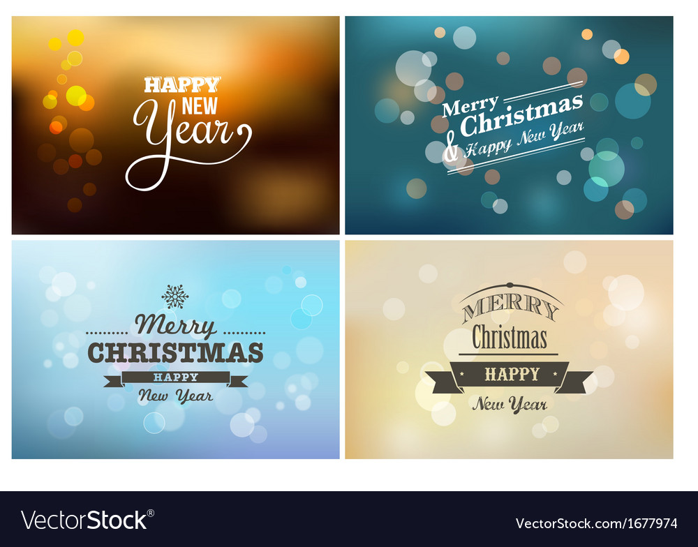 Light bokeh magic Christmas lights - backgrounds vector image