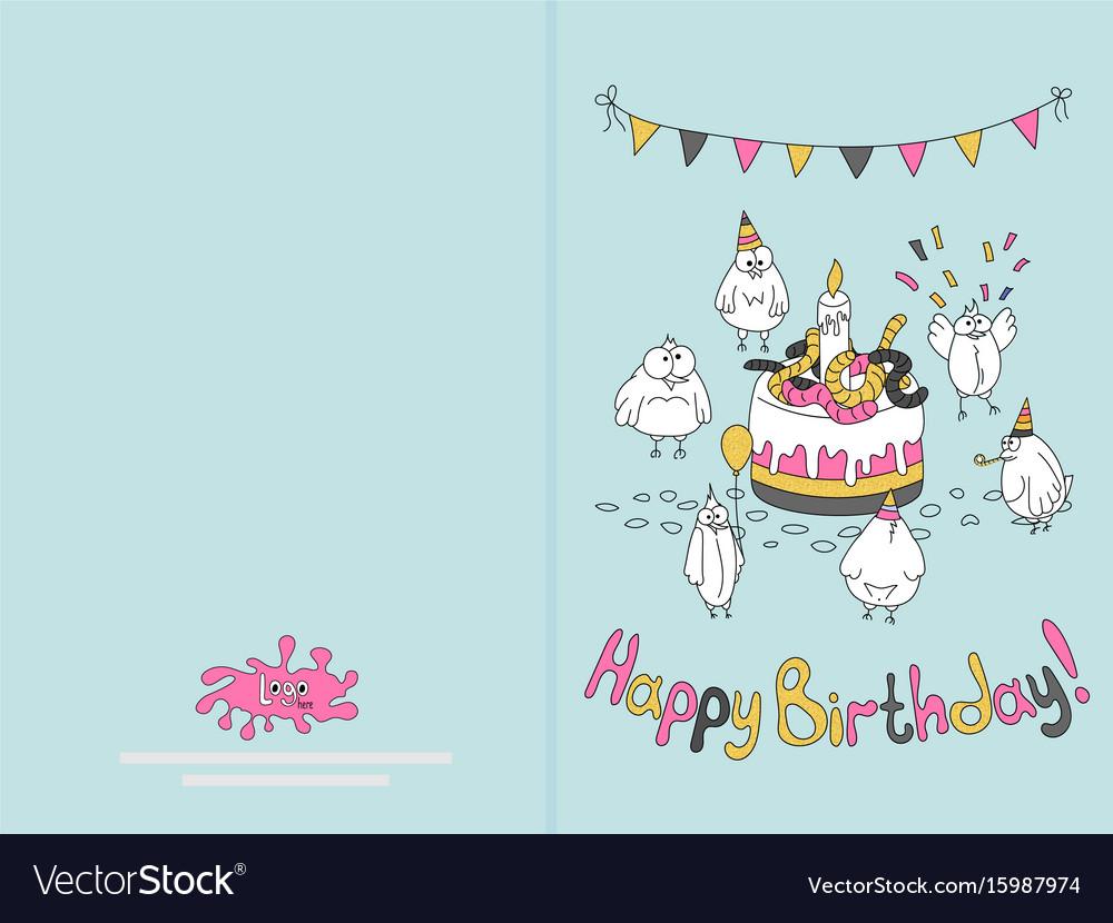 Print a happy birthday card gallery birthday cards ideas ready for print happy birthday card design with vector image bookmarktalkfo gallery bookmarktalkfo Images