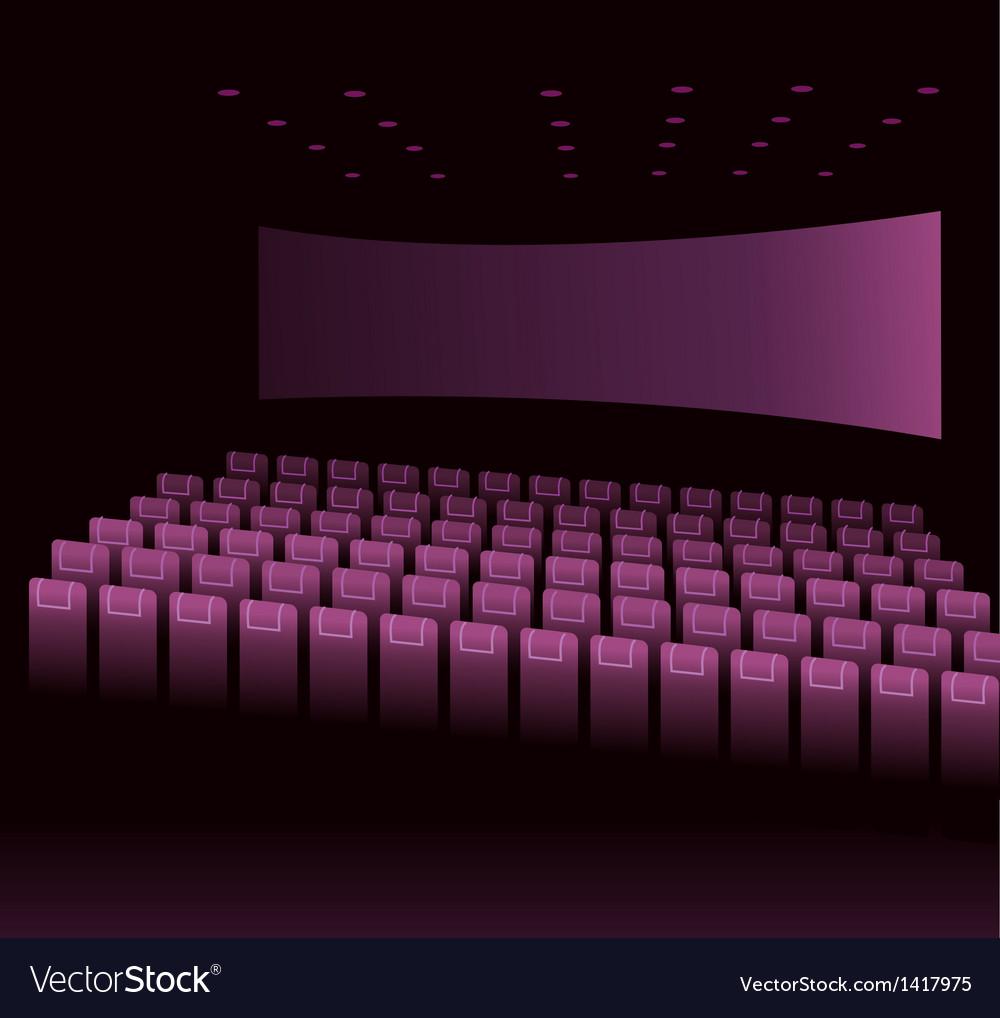 Cinema Interior vector image