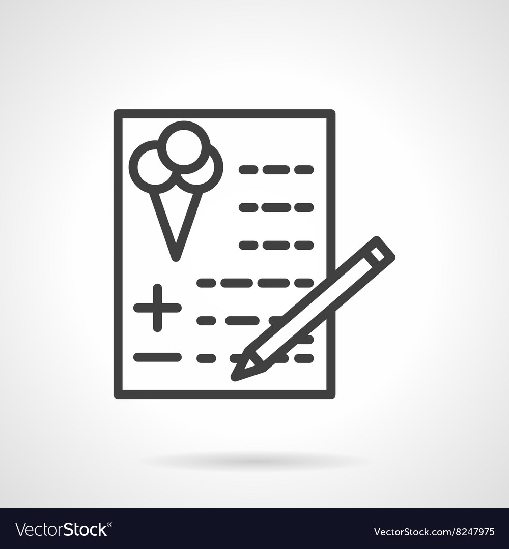 Checkout party simple line icon vector image