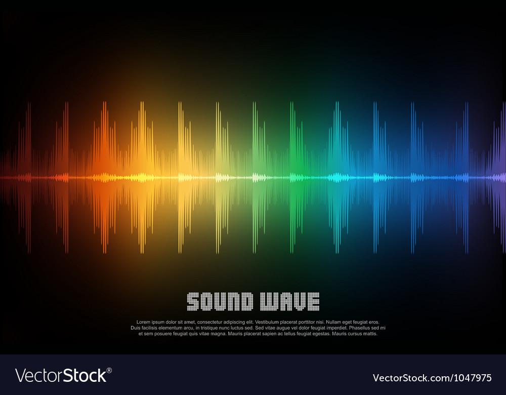 Music equalizer wave vector image