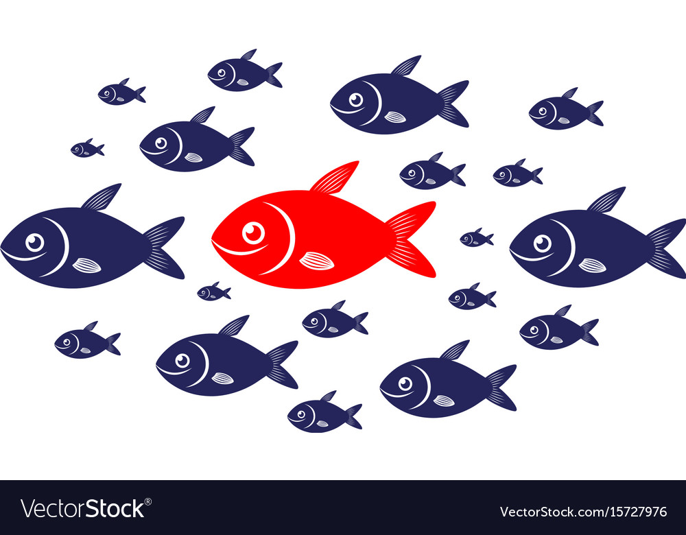 Target audience red fish concept vector image