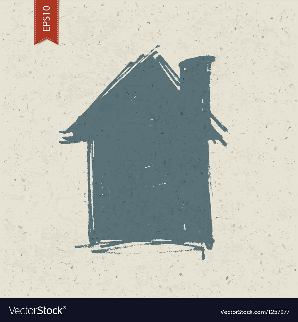 House sign on paper texture vector image