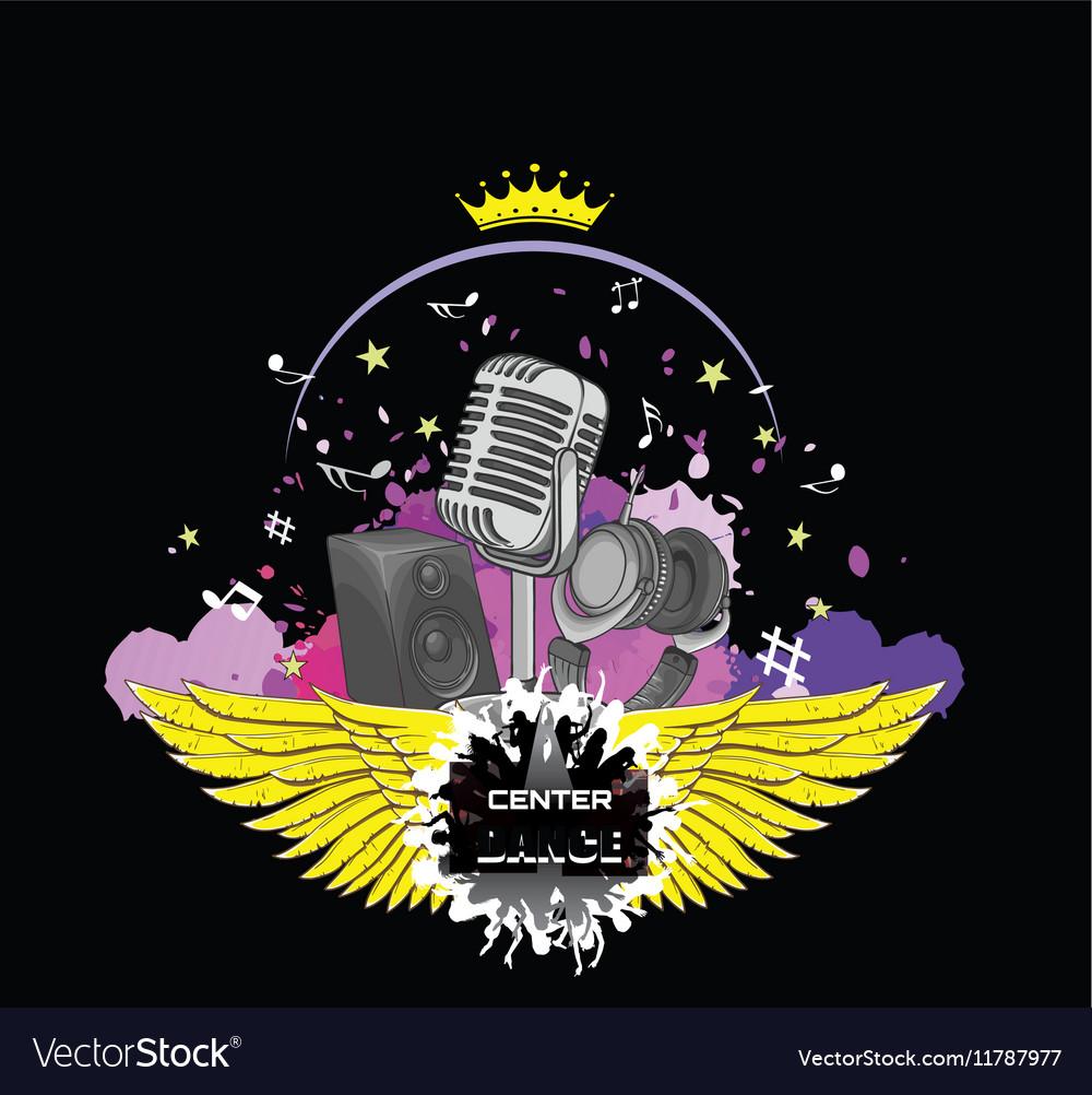 Logo vocal vector image