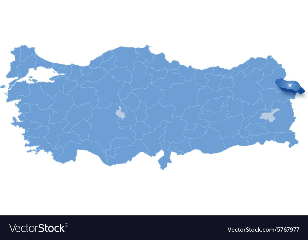 Map of Turkey Igdir Royalty Free Vector Image VectorStock