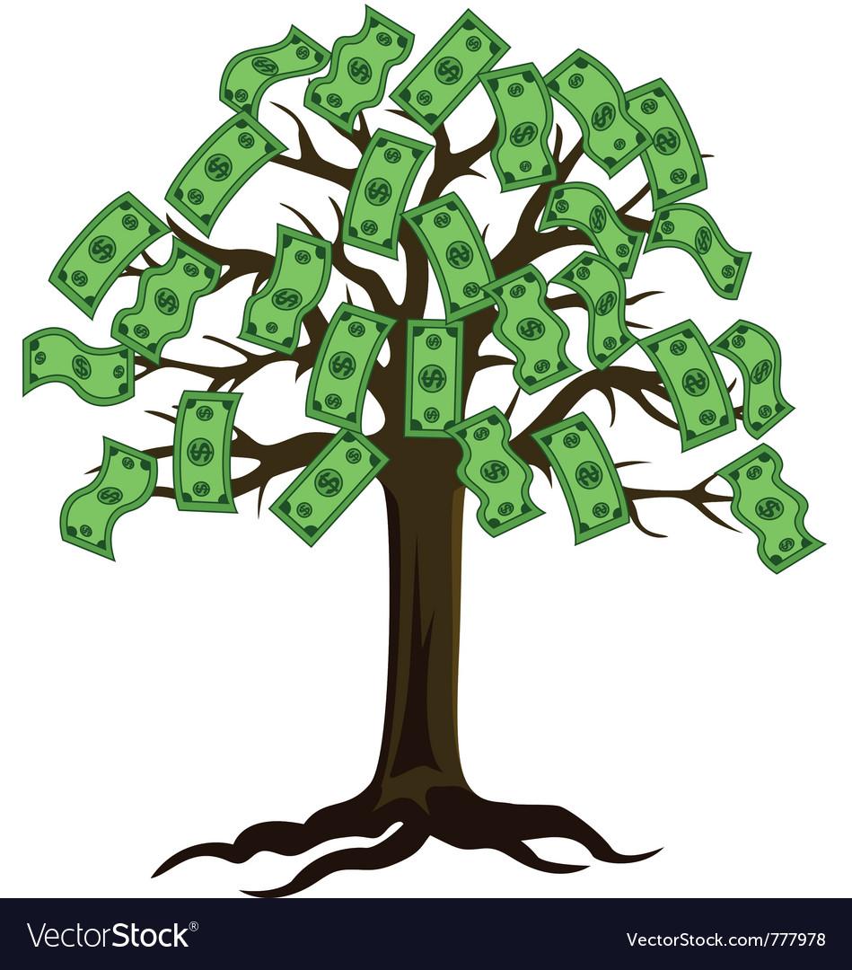 Dollar tree - Dollar Tree Vector Image
