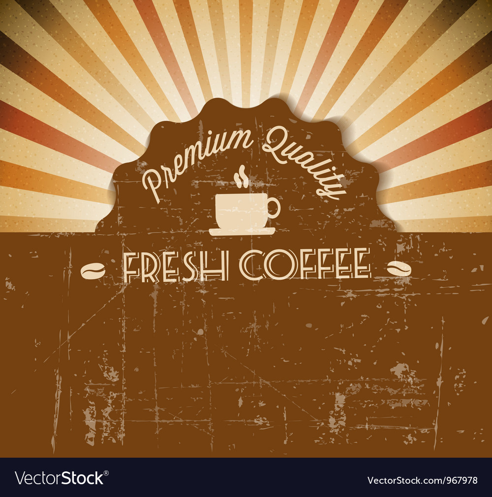 Grunge retro vintage background vector image
