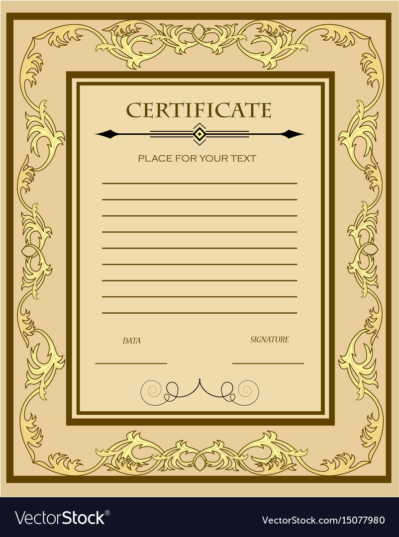 Custom certificate template custom certificate templates for Customizable certificate template