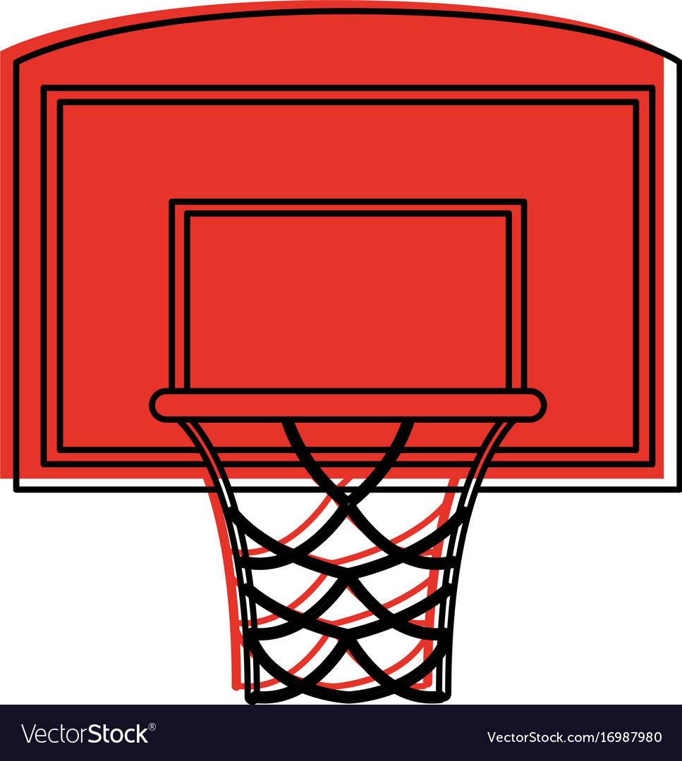 Basketball backboard and hoop icon image vector image