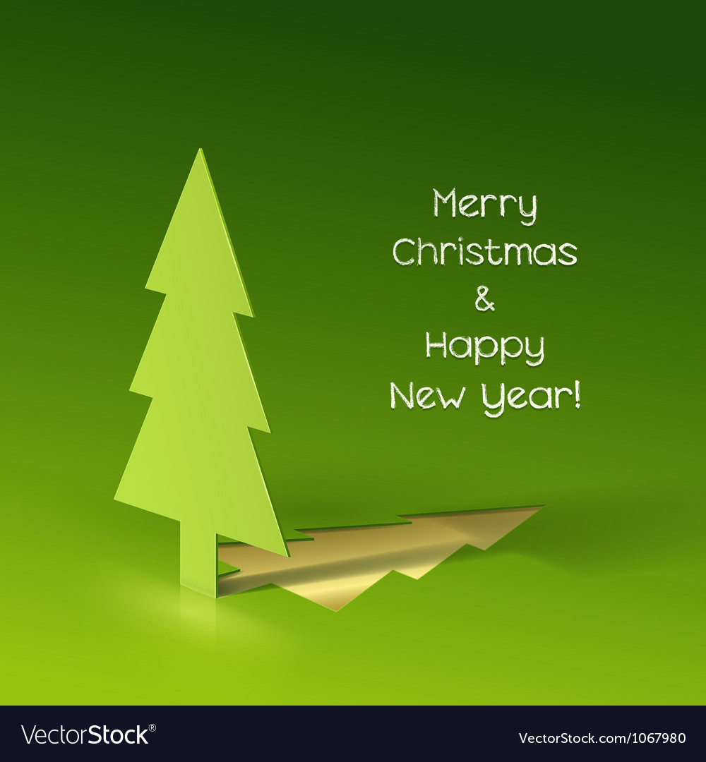 Christmas tree made of paper vector image
