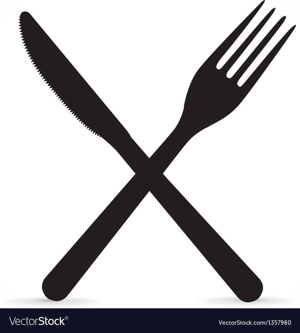 Kitchen Knife Vector crossed fork and knife royalty free vector image