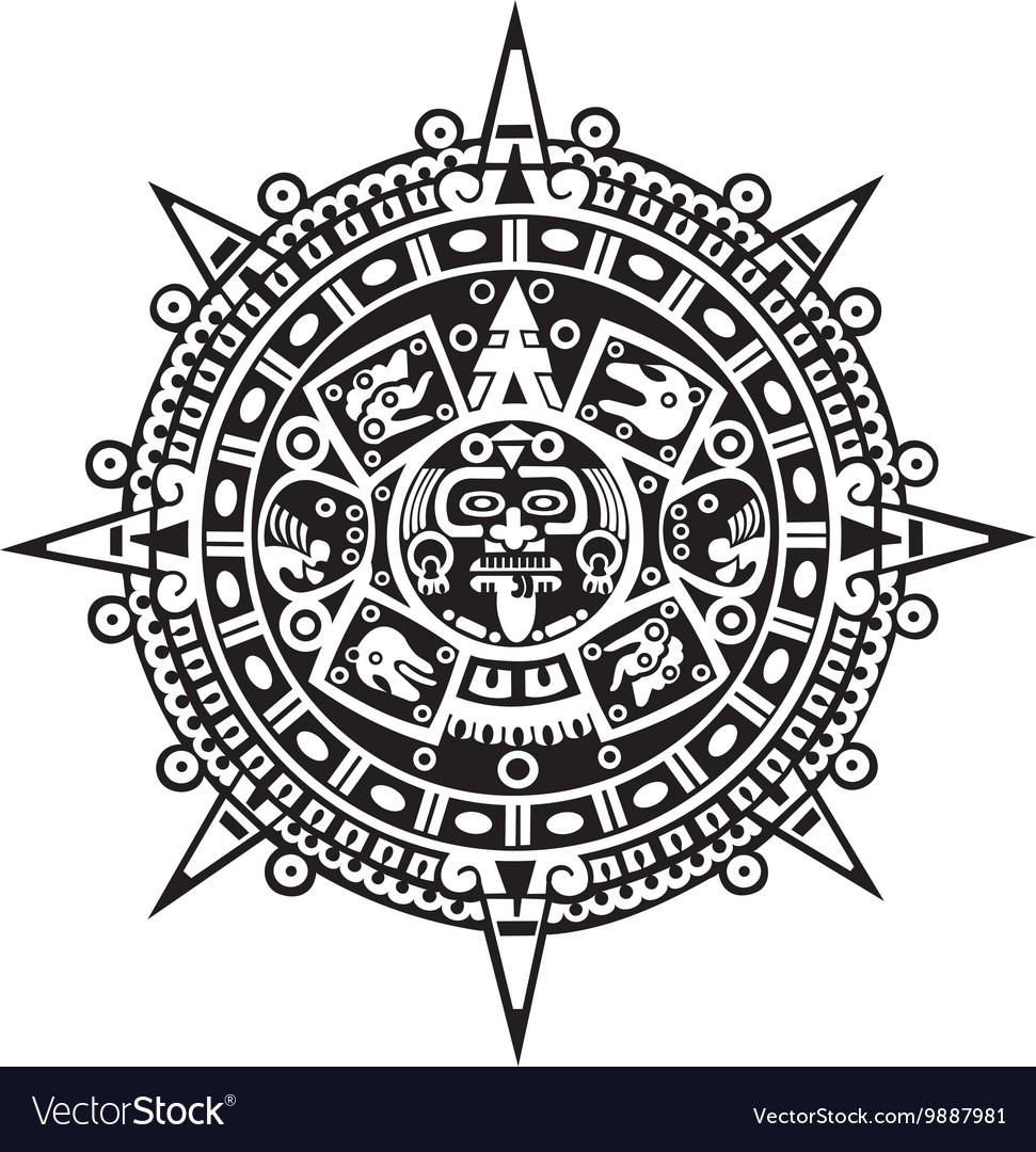 Aztec Calendar Royalty Free Vector Image Vectorstock