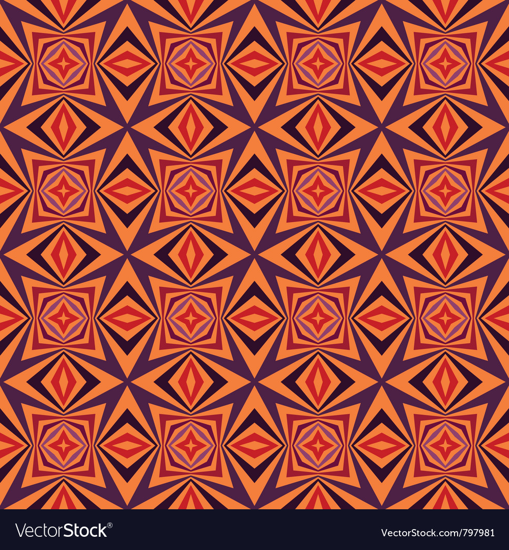 Abstract color seamless geometric background vector image