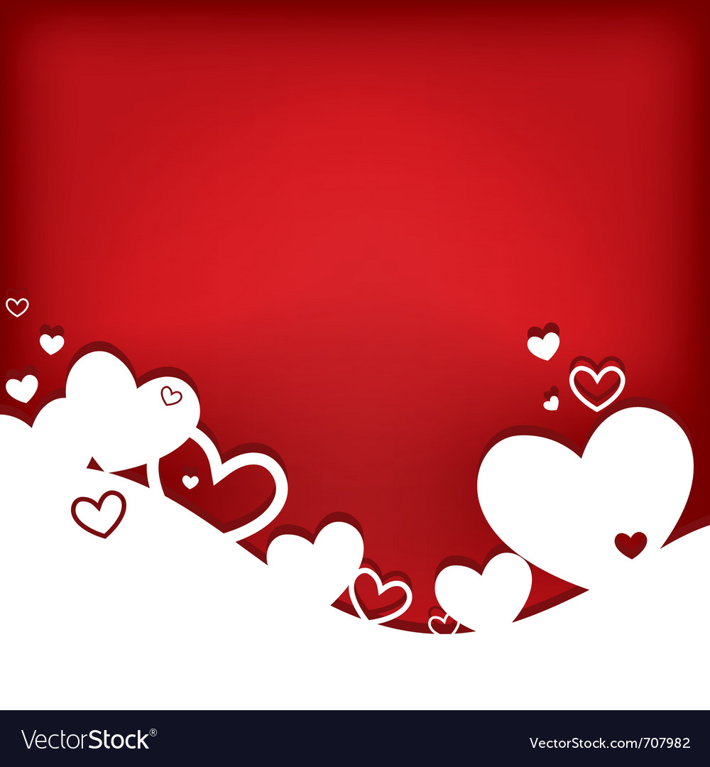 Hearts valentine card vector image