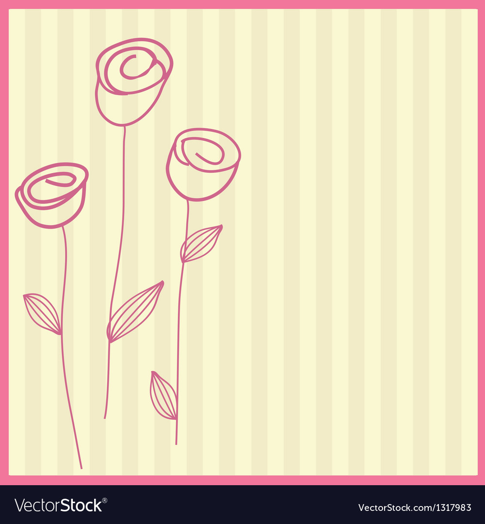 Retro card with vintage rose vector image