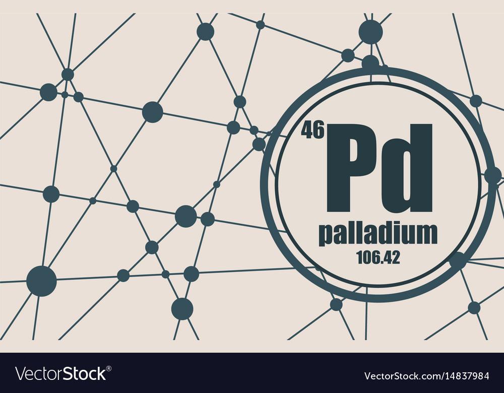 Palladium Chemical Element Royalty Free Vector Image