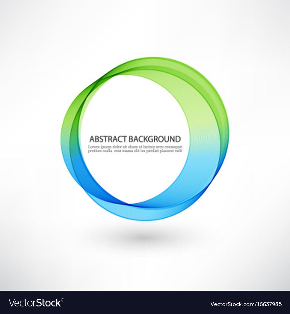 Abstract blue green swirl circle bright vector image