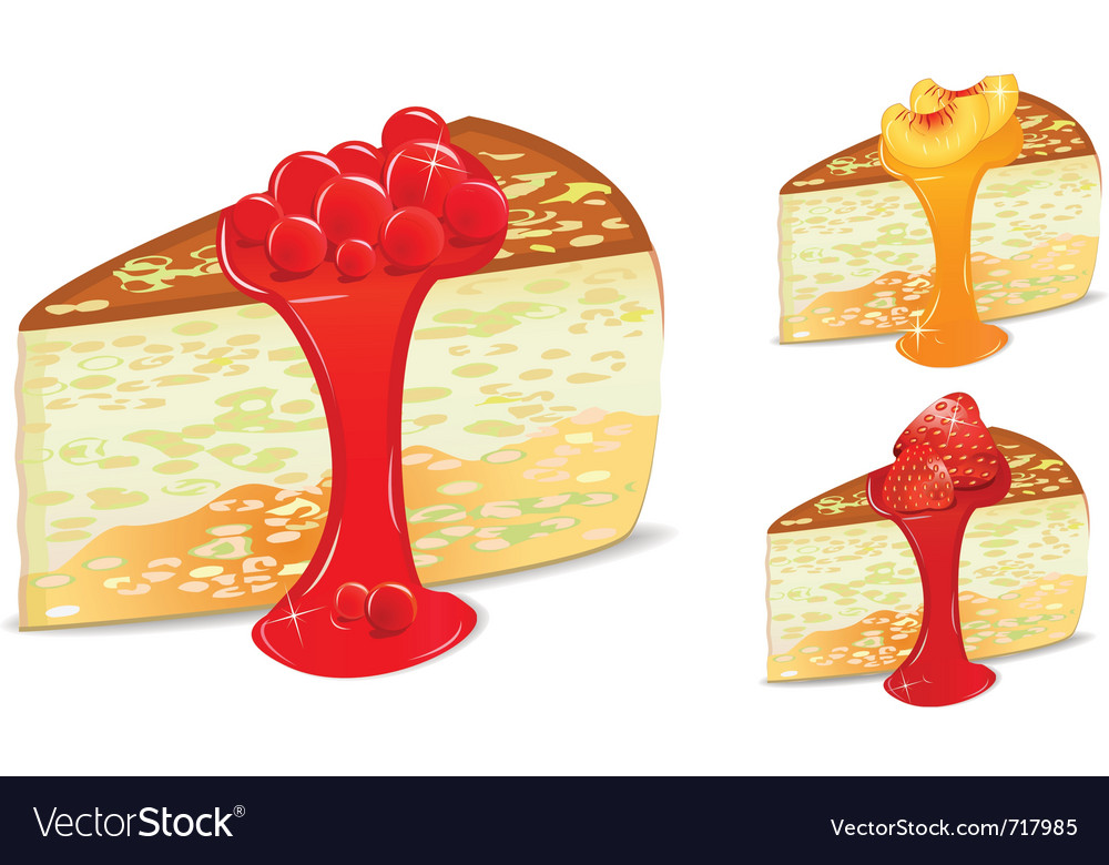 Cake set vector image