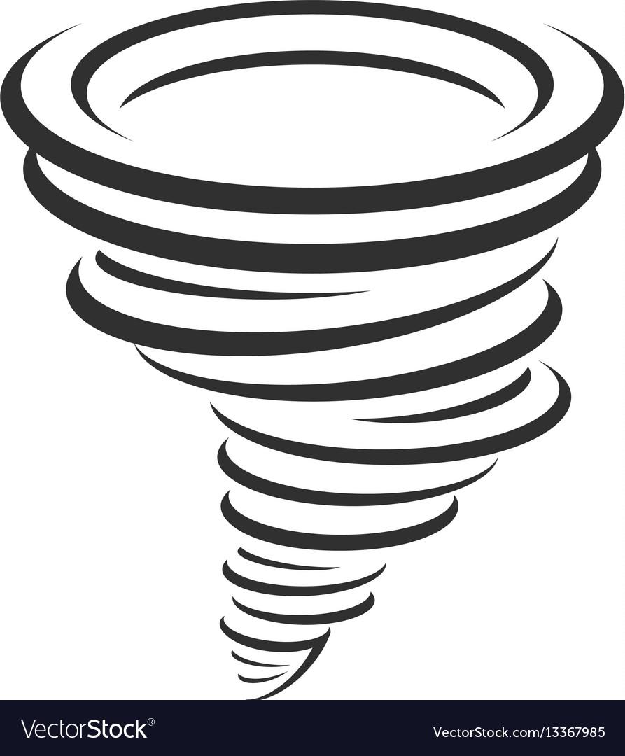 Tornadoes icon vector image