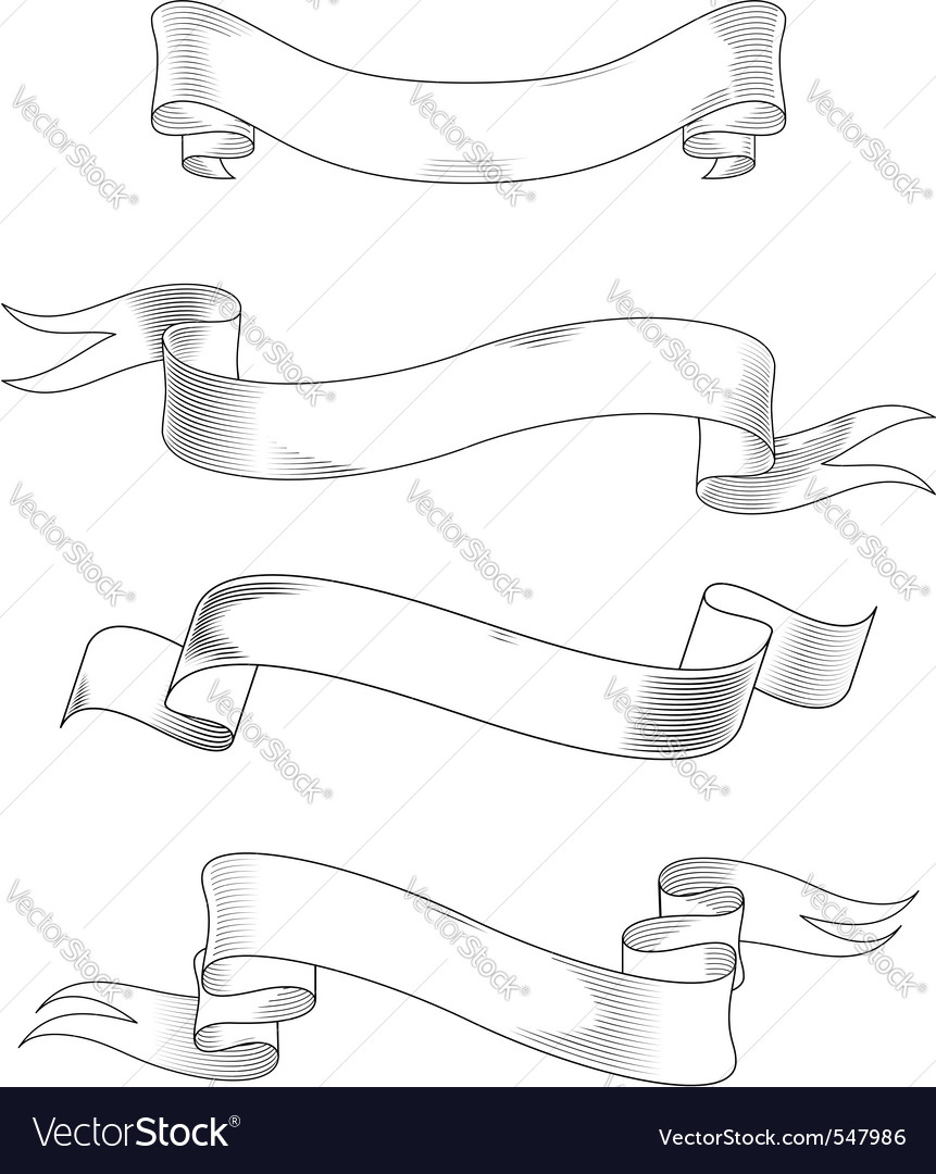 Medieval abstract ribbons vector image
