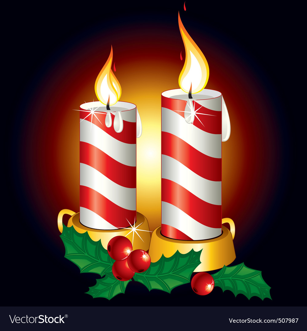 christmas candles royalty free vector image vectorstock