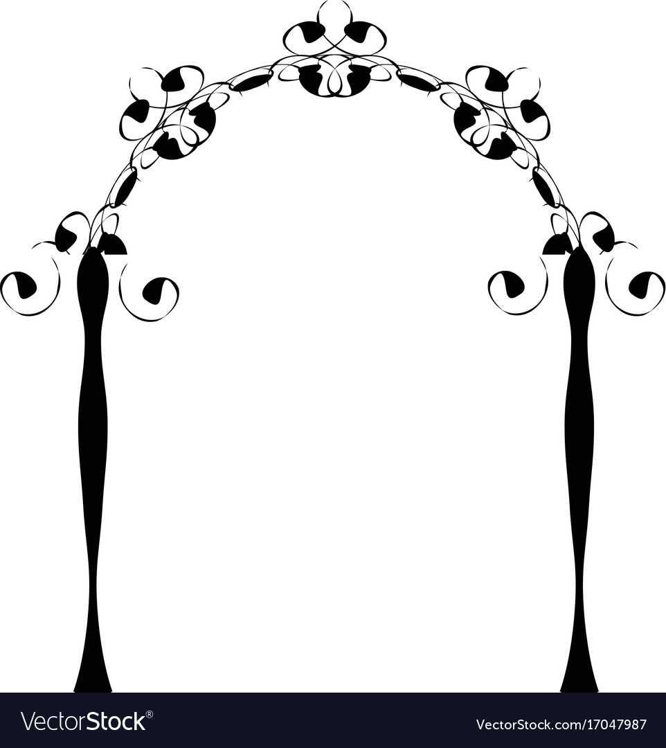 Vintage chuppah arch jewish wedding canopy vector image