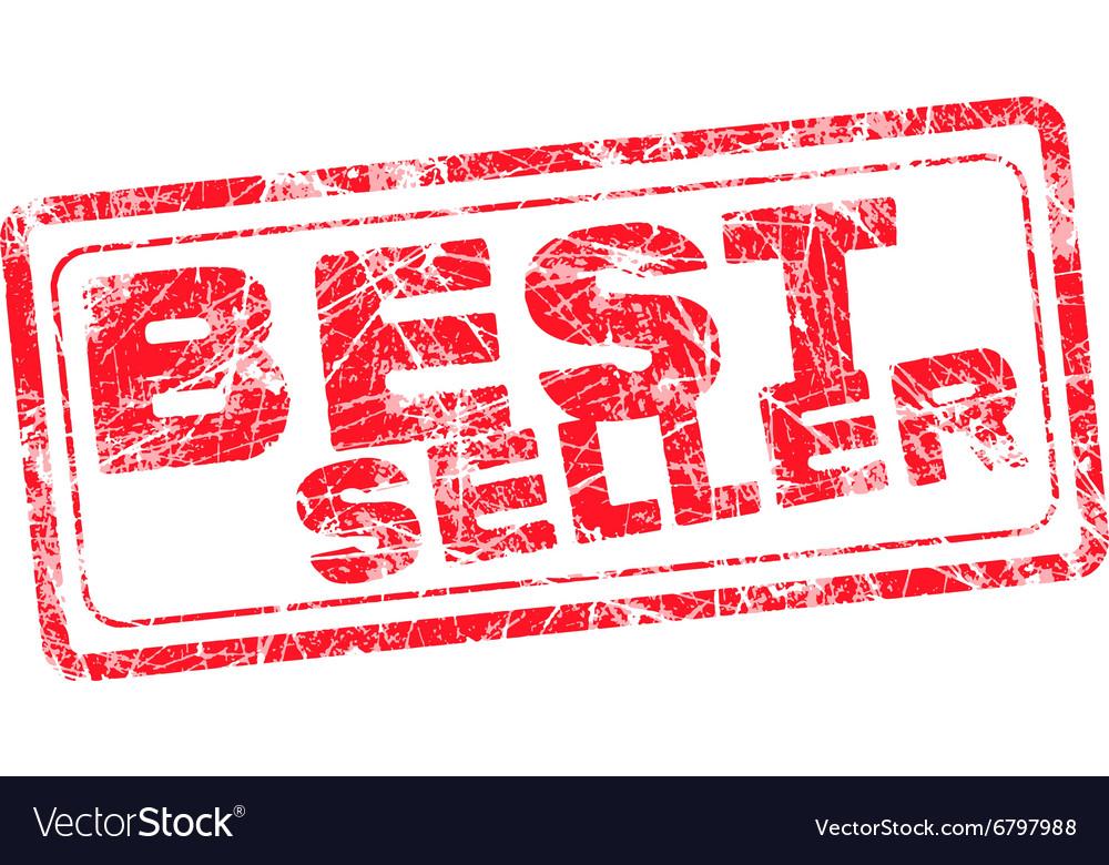 Best seller red grunge rubber stamp vector image