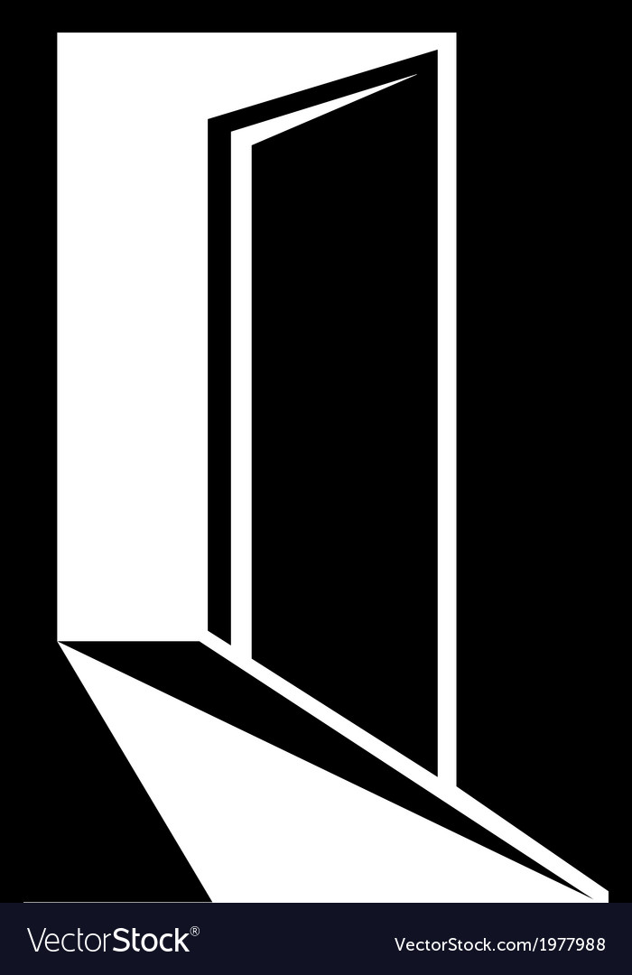 Entry symbol with door vector image