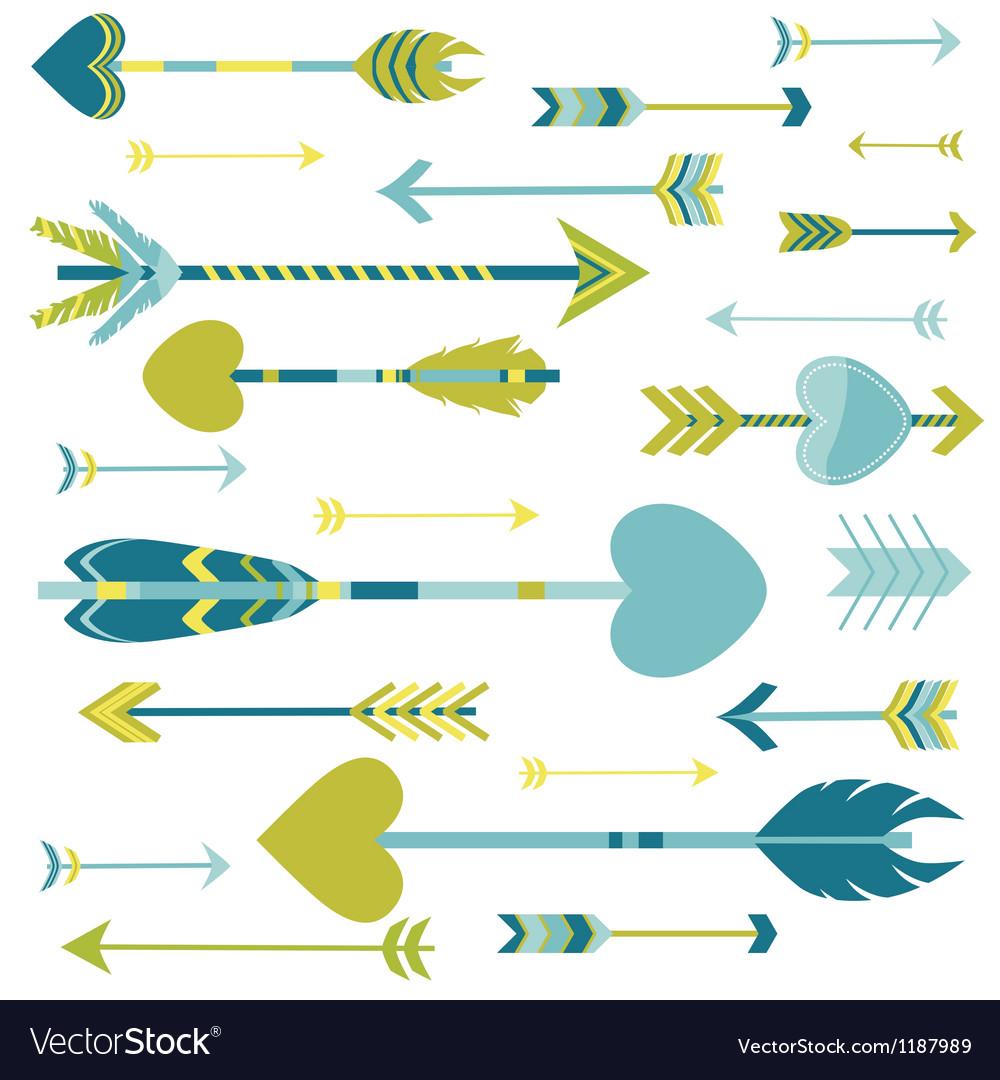 Love Arrows Background vector image