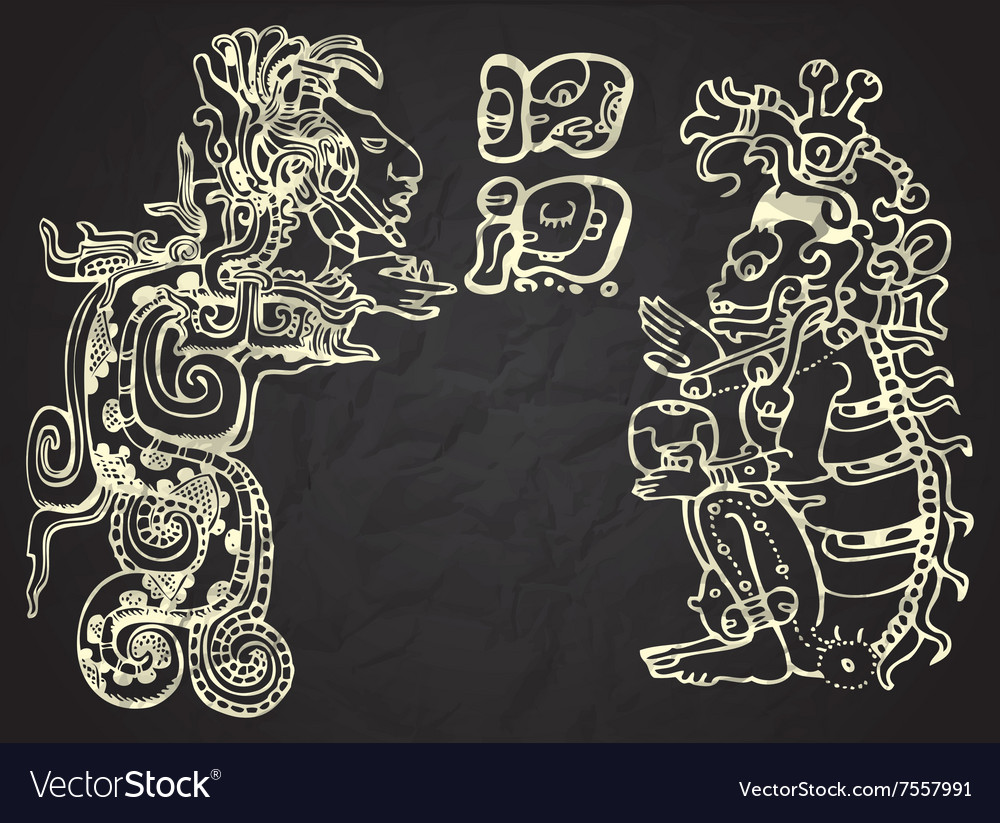 Mexico and Peru native art vector image