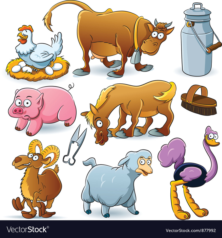 Farm Animal Collection vector image
