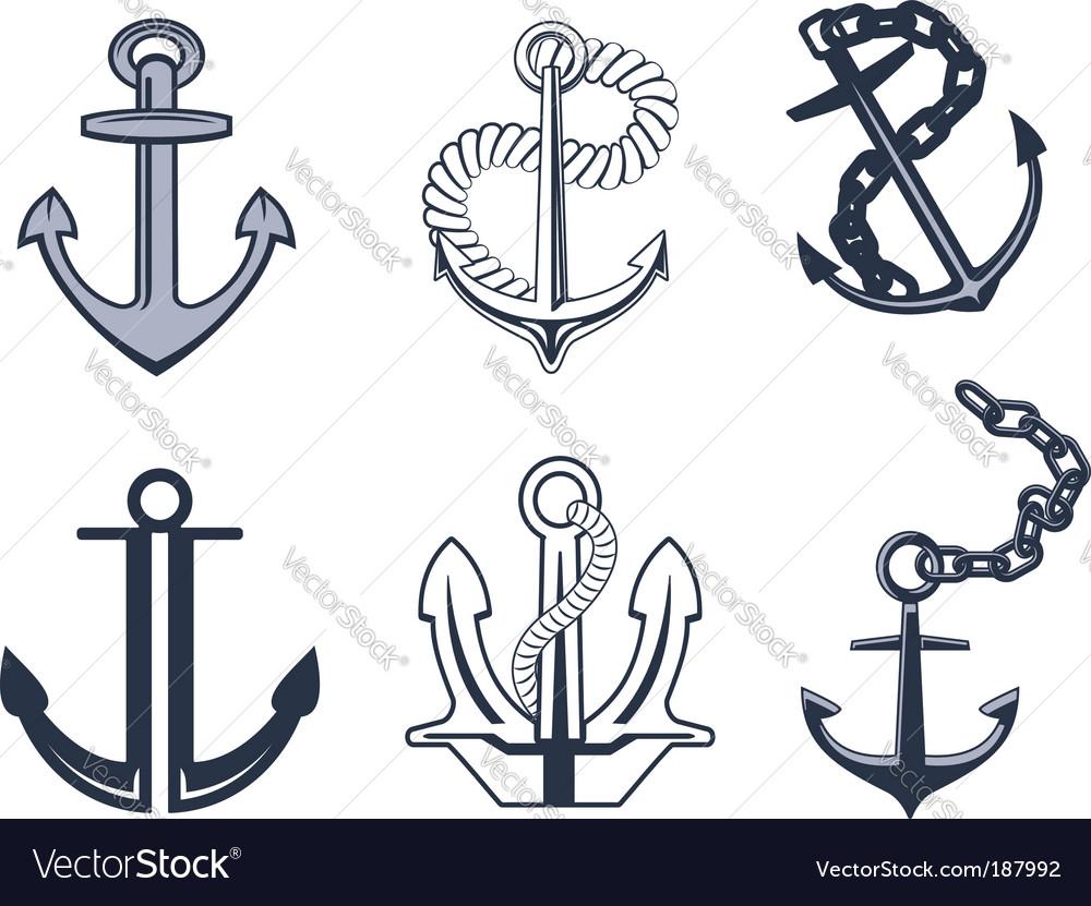 Anchor symbols vector image