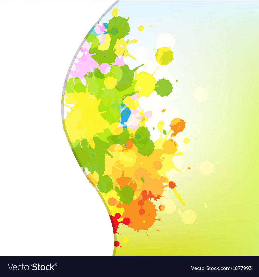 Abstract Background With Blots vector image