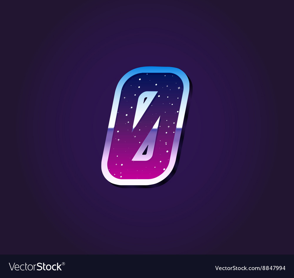 80s Style Retro Sci-Fi Font Digit or Number vector image