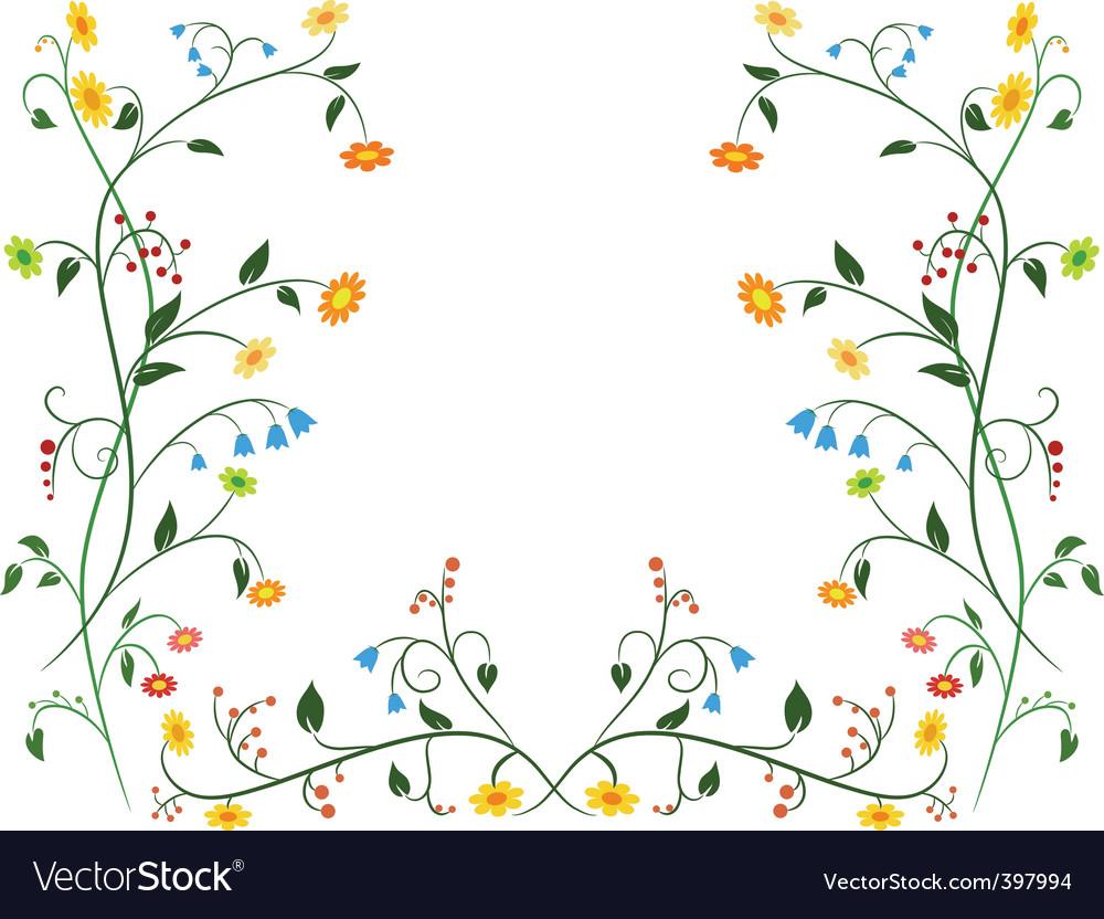 Floral flower ornament vector image