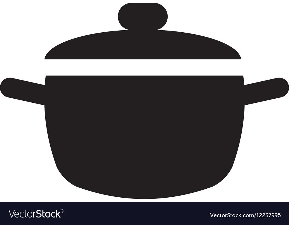 Cooking pot kitchen food pictogram vector image