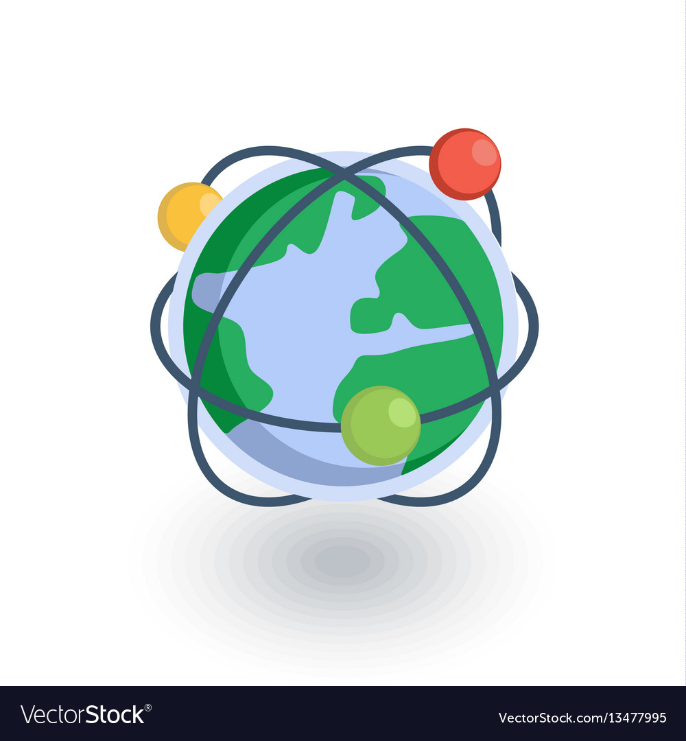 Global communication network internet isometric vector image