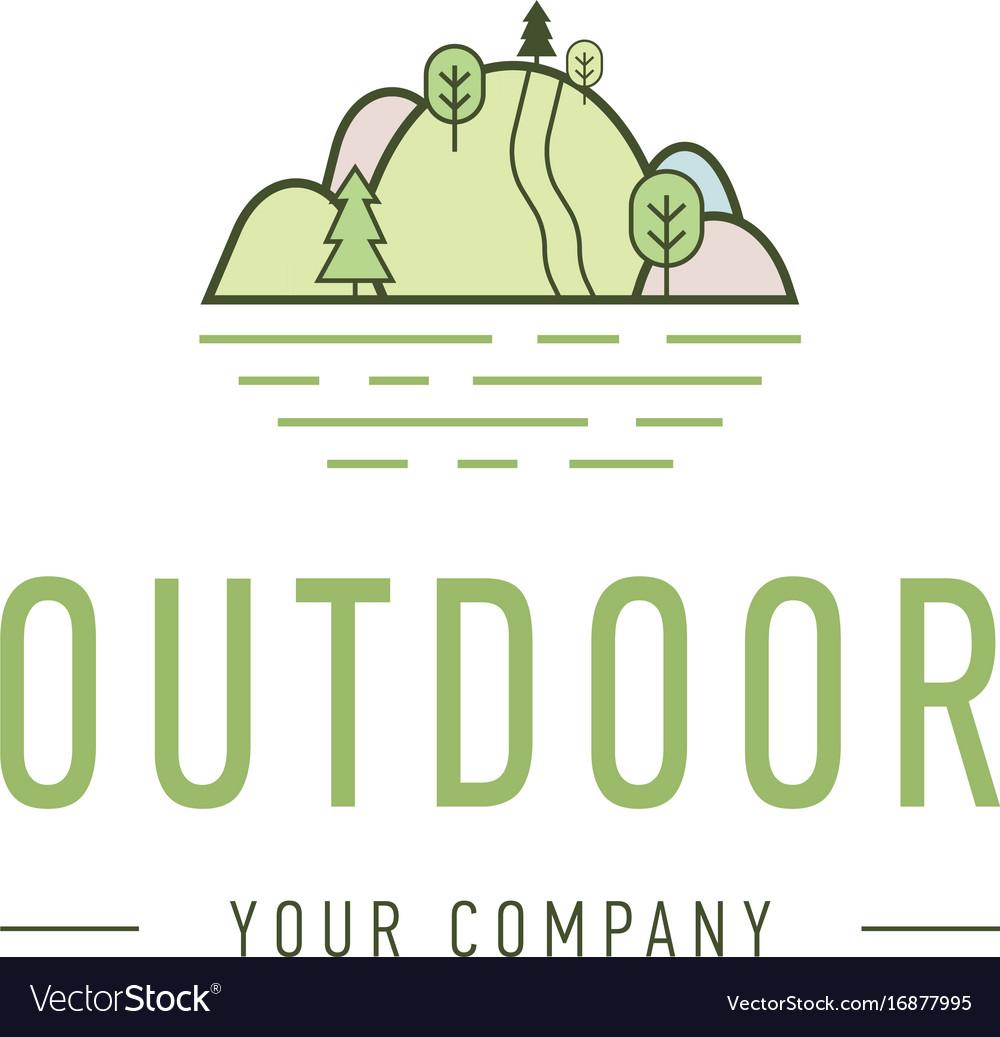 Outdoor explorer badge of outdoor vector image