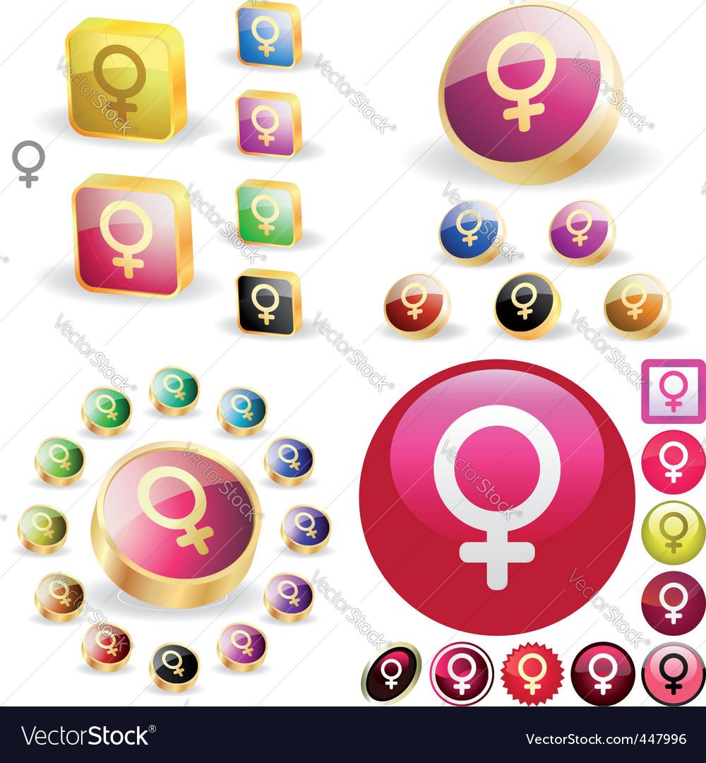 Female symbol Vector Image