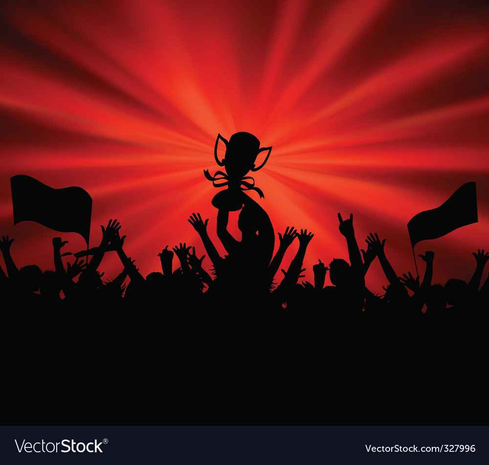 Excited people vector image