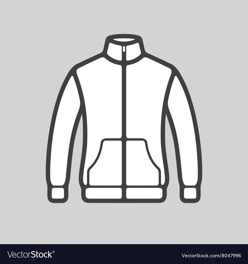 Sport jacket icon vector image