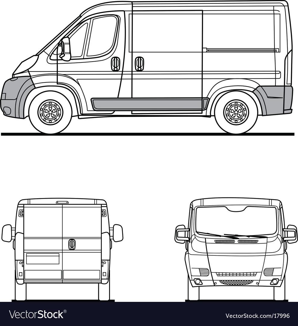 van outline royalty free vector image vectorstock