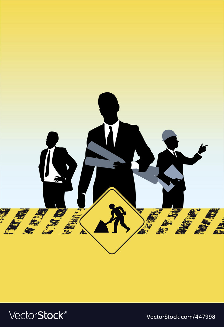 Construction silhouettes vector image