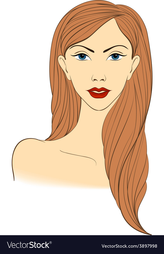 Portrait of a blond naked women vector image