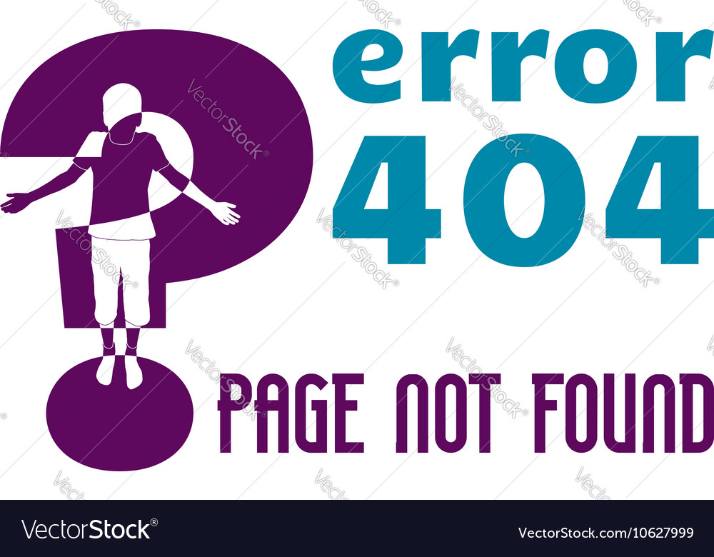 Error 404 vector image