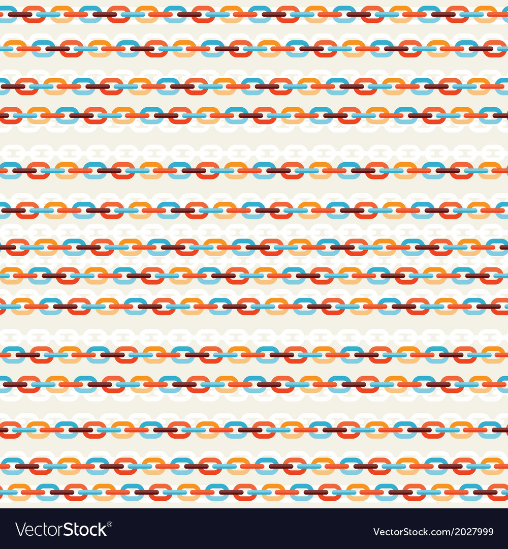 Seamless background with colored chains vector image